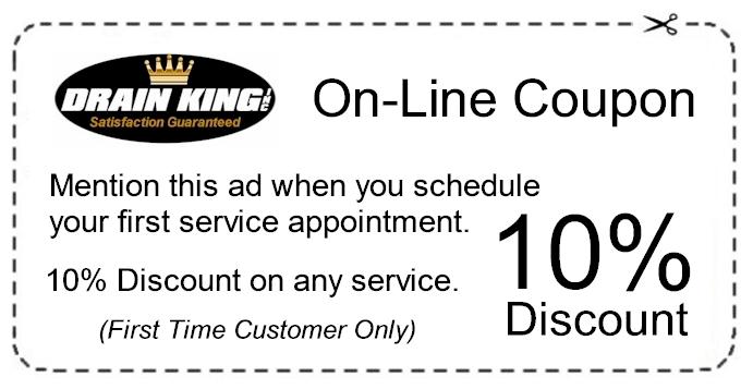 Drain King Inc on-line coupon