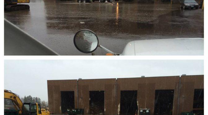 Plugged storm drain